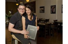 Chef and owner Danny St-Pierre and his wife and partner, Anik Beaudoin, at their restaurant Auguste in Sherbrooke. It would have been easy for St-Pierre to make it in big-city Montreal instead of moving home to Sherbrooke.