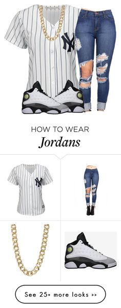 """Untitled #165"" by trillest-qveen247 on Polyvore featuring Majestic and 14th & Union"