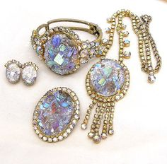 Juliana DeLizza and Elster Oval Crystal by AgedandOpulentJewelr, $825.00