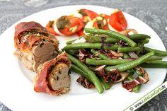 Low Carb Rezept: Low Carb Bohnengemüse mit Schweinefilet Parma aus der Kategorie: Fleischgerichte
