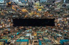 "El cielo ""geométrico"" de Hong Kong, por Peter Stewart.   Matemolivares"