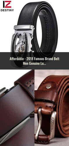 46cf0073536 2018 Famous Brand Belt Men Genuine Luxury Leather Men s business Belts for  Men