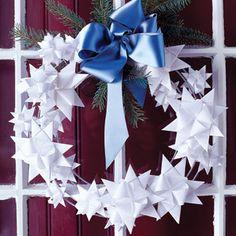 Paper-Star Wreath