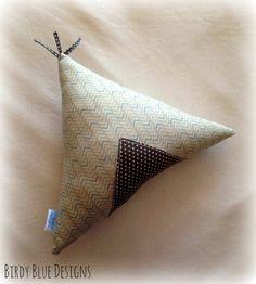 Grey Teepee Cushion by BirdyBlueDesigns on Etsy