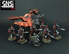Warhammer-40K-SNS-Pro-Painted-Eldar-Wraithguard-Army-COMMISSION