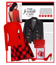"""some red"" by bodangela ❤ liked on Polyvore featuring мода, H&M, J.W. Anderson, Posh Girl и Rochas"