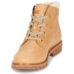 b10870b8 Caterpillar FRET FUR Beige - Zapatos Botas de caña baja Mujer 99,99 €