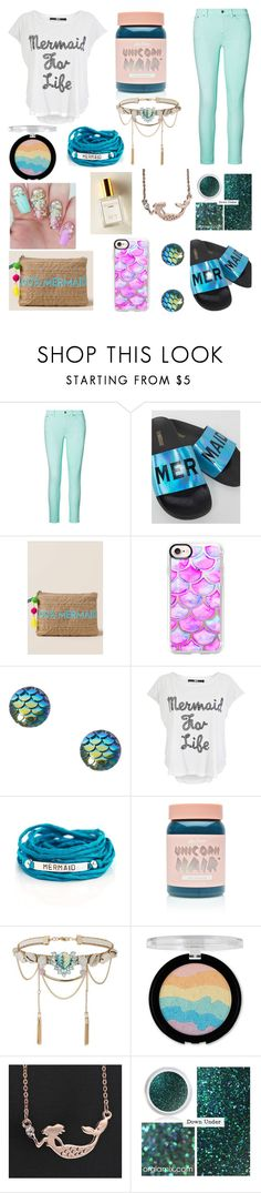"""Mermaid!"" by suyasha-singh ❤ liked on Polyvore featuring Ralph Lauren, The White Brand, Francesca's, Casetify, Iron Fist, Blooming Lotus Jewelry, Lime Crime, Miss Selfridge, Forever 21 and Mermaid"