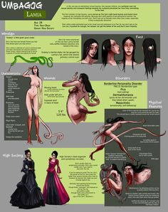 Lamia Sheet by FablePaint on DeviantArt