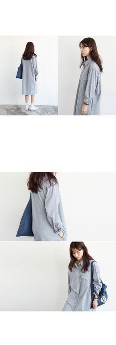 Loose shirt dress