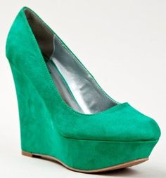 Qupid WORTHY-01 Women Slip On Platform Wedge Heel Suede Pumps,$29.00 - $32.00
