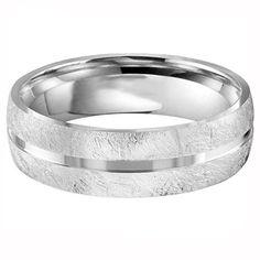 Diamond Brush Finsihed Wedding Band from Steven Singer Jeweler