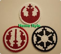 Star Wars - Hama Beads perler by Marta Ruso