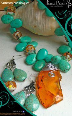 Beautiful handmade jewelry by Iliana Prado.