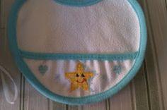 Babete bordado ideal para recém nascido