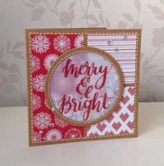 Beth's Little Card Blog: Red & Kraft Christmas cards
