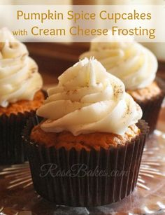 Easy Pumpkin Spice Cupcakes. This recipe is so easy to pull together and the cupcakes are simply delicious.