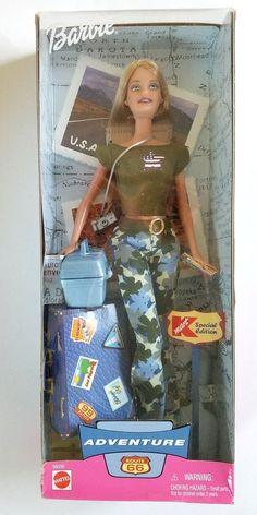 Barbie special edition doll KMart Adventure Route 66  Mattel #Mattel #Dolls