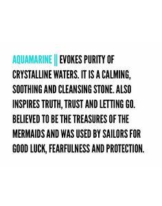 Aquamarine ~ Meaning