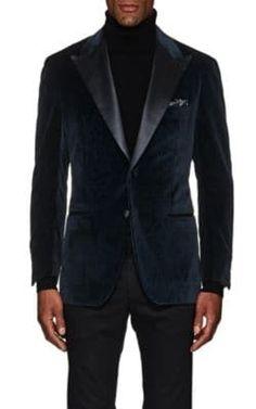 Sartorio Men's PG Paisley Velvet Two-Button Sportcoat-Teal Fashion Night, Suit Fashion, Mens Fashion, Velvet Blazer Mens, Paisley, Mens Sport Coat, Cashmere Turtleneck, Blazer Outfits, Blazers For Men