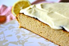 Low carb lemon cake/ LCHF lemon cake/ Paleo lemon cake - no nuts, dairy, grain or sugar in the cake. But dairy in the icing.