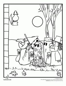 Peanuts Trick Or Treat 231x300 Its The Great Pumpkin Charlie Brown Coloring Pages