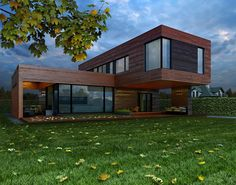 20 Ideas container house country style for country house on Behance Contemporary Style Homes, Contemporary Architecture, Architecture Details, Container Home Designs, Prefabricated Houses, Prefab Homes, Urban Rooms, Two Story House Design, House Extension Design