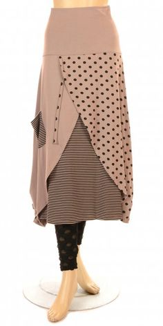 Funky spot, stripe & block colour - Two layered with front cut away - Soft, stretchy jersey fabric - VISIT OUR WEBSTORE www.idaretobe.com