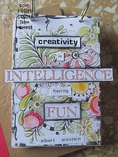 Hello, I'm Frezja  and this is my first post as a Joggles Design Team member. I hope you will like it  I created an Art Journal page with a quote that is important to me. I also love flowers so …