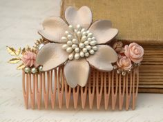 Wedding Hair Comb  Vintage Wedding Collage Hair by roomofyourown, $59.00