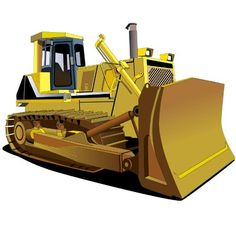 Wallmonkeys WM37473 Bulldozer-13 Peel and Stick Wall Decals (36 in H x 36 in W) -- Special  product just for you. See it now! (This is an amazon affiliate link. I may earn commission from it)