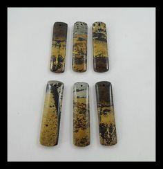 6 pcs Chohua Jasper Pendant Bead,40x11x4mm,40x10x3mm,20.23g
