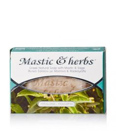 """Natural soap for every skin type with mastiha & sage, from Chios""""Anemos"""" Pure Soap, Chios, Natural Cosmetics, Sage, Greek, Herbs, Pure Products, Nature, Naturaleza"""