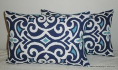 DecorativeAccentThrow  Set of Two Pillow by EllensDesigns on Etsy, $48.00