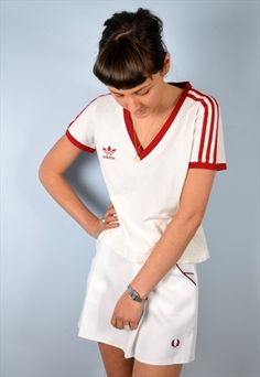Fred+Perry+Womens+Vintage+Tennis+Skirt+White+XS+80's