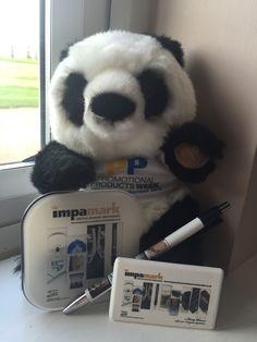 #PromoThePanda showing off Impamark's giveaway goodies! #ppweek