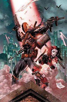 Deathstroke and Harley Quinn by Tony Daniel
