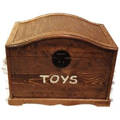 Rustic, Antique Cherry Stained Treasure Chest, Toy Trunk, Dress-Up Trunk - perfect for toys, keepsakes, storage and organization on Etsy, $80.00