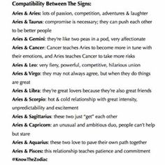 Aries Compatibility     #Aquarius