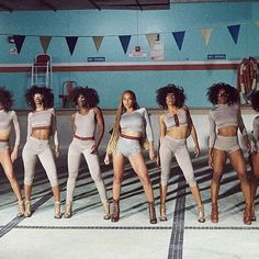 """The Gucci inspired bodysuits featuring GG pattern and Web details in the new #Formation video are an homage to #Gucci - """"celebrating its past and its present,"""" #Beyonce."""