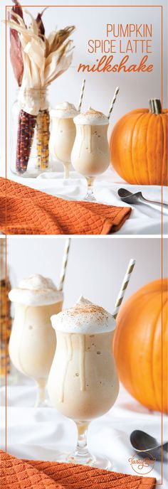 This Pumpkin Spice Latte Milkshake is your pumpkin pie with vanilla ice cream and whipped cream on top with a cup of coffee all in one!