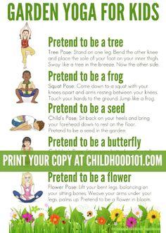 Yoga for Kids: A Walk Through the Garden | Childhood101