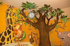 My pumpkin's jungle themed room