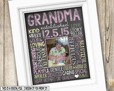 Mother's Day Gift for Grandma ~ First Time Grandma Gift from Grandchild ~ Printable Mother's Day from Kids ~ First Mother's Day Gift DIGITAL by SubwayStyle on Etsy