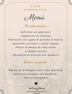 Il nostro menù d'amore per un romantico San Valentino!