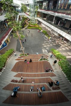 Gallery of Mega Foodwalk / FOS – 4 - Architecture Landscape Design Plans, Landscape Architecture Design, Urban Landscape, House Landscape, Contemporary Architecture, Landscape Plaza, Landscape Stairs, Landscape Borders, Creative Landscape