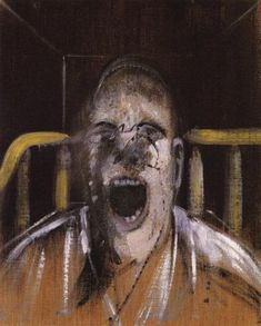 Francis Bacon, Study for the Head of a Screaming Pope, 1952