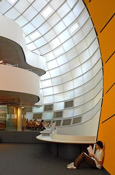 In the library - Library for the Faculty of Philology at the Free University Berlin, Germany (Architect: Norman Foster) by svenwerk, via Flickr
