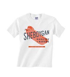 Sheboygan Quality Goods - Bratwurst Logo Kid's T-Shirt in White