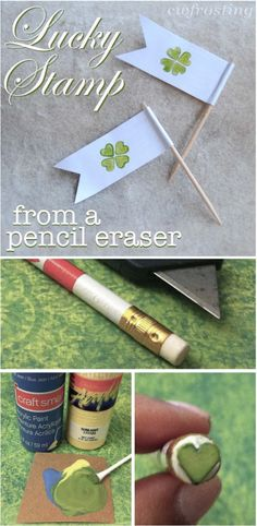 make a stamp from a pencil eraser @cwfrosting